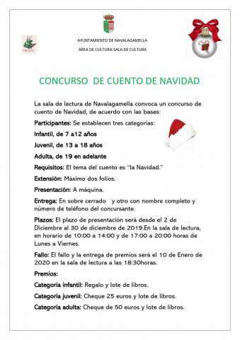 Concurso De Cuentos De Navidad Ayuntamiento De Navalagamella